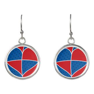 Patriotic American hearts Earrings