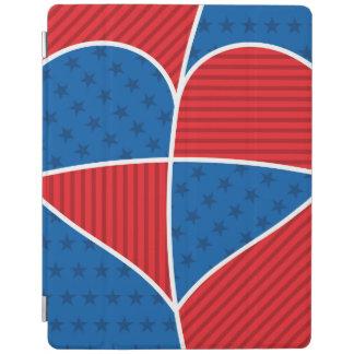 Patriotic American hearts iPad Cover