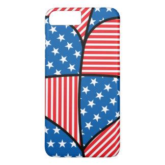 Patriotic American hearts iPhone 8 Plus/7 Plus Case