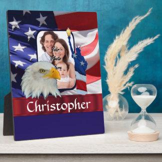 Patriotic American Icon photo template Plaque