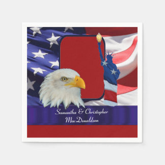 Patriotic American Icons Disposable Serviette