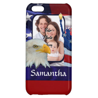 Patriotic American photo template Case For iPhone 5C
