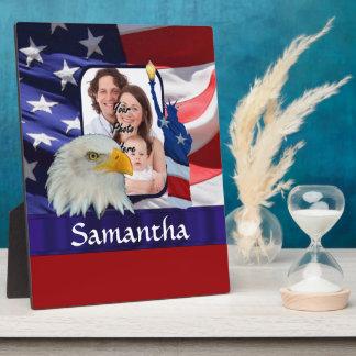 Patriotic American photo template Plaque