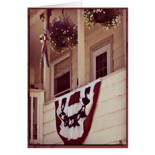 Patriotic American Porch Note Card