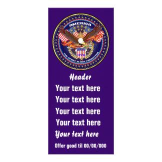 Patriotic American Rack Card View Notes Please