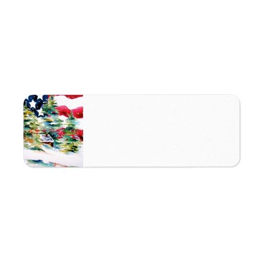 Patriotic American Return Address Label