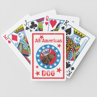Patriotic American Water Spaniel Bicycle Playing Cards