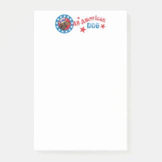 Patriotic American Water Spaniel Post-it Notes