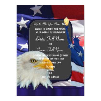 Patriotic American wedding 17 Cm X 22 Cm Invitation Card