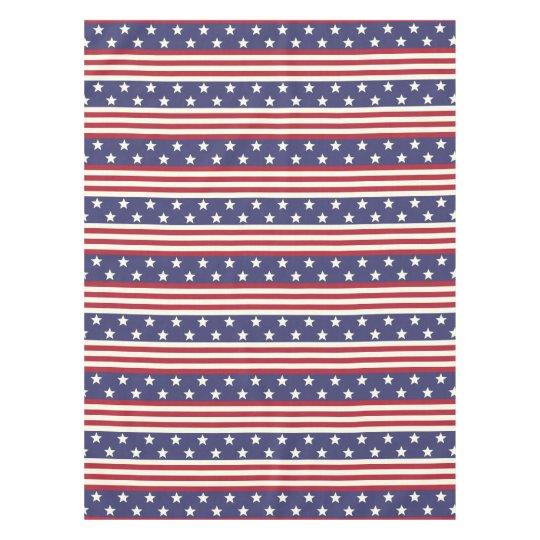 Patriotic Americana USA Flag Stars and Stripes Tablecloth