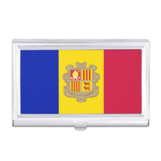 Patriotic Andorra Flag Business Card Holder