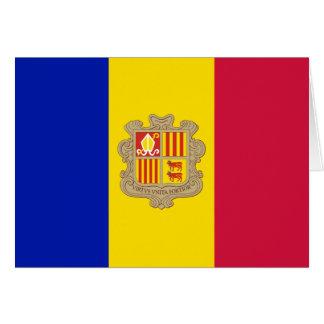 Patriotic Andorra Flag Card