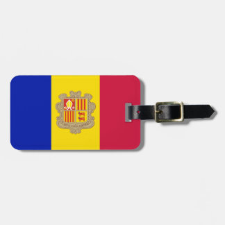 Patriotic Andorra Flag Luggage Tag