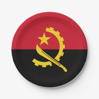 Patriotic Angolan Flag Paper Plate