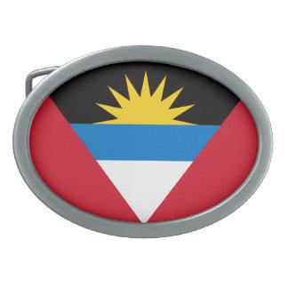 Patriotic Antigua and Barbuda Flag Belt Buckles