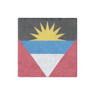 Patriotic Antigua and Barbuda Flag Stone Magnet