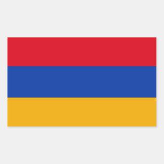 Patriotic Armenia Flag Rectangular Sticker