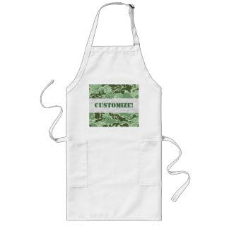 Patriotic Army Custom Green Camouflage Designs Long Apron