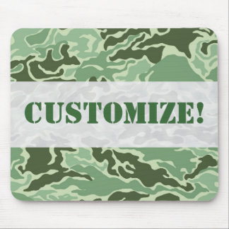 Patriotic Army Custom Green Camouflage Designs Mouse Pad