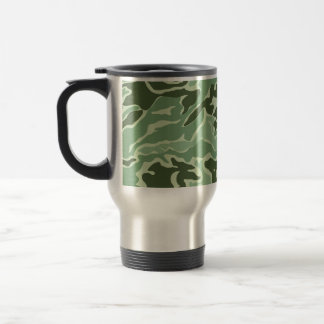 Patriotic Army Custom Green Camouflage Designs Travel Mug