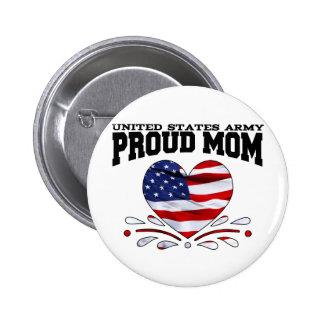 Patriotic Army Mom Pinback Button