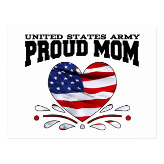 Patriotic Army Mom Post Card