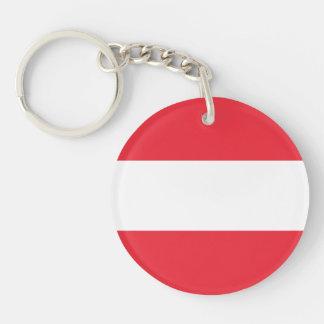 Patriotic Austrian Flag Key Ring
