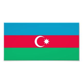 Patriotic Azerbaijan Flag Photo Print