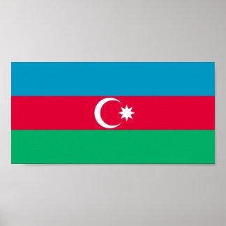 Patriotic Azerbaijan Flag Poster