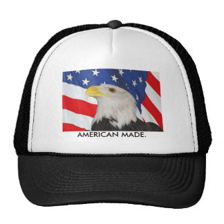 Patriotic Bald Eagle and American Flag Trucker Hats