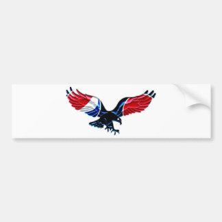 Patriotic Bald Eagle Car Bumper Sticker