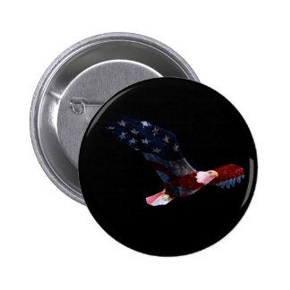 Patriotic Bald Eagle Button