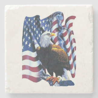 Patriotic Bald Eagle Coaster