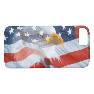 Patriotic Bald Eagle Over The American Flag iPhone 7 Case