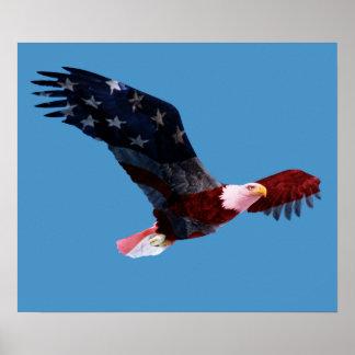 Patriotic Bald Eagle Posters