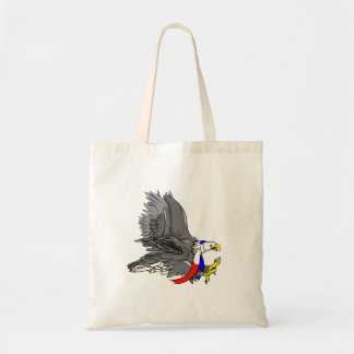 Patriotic Bald Eagle Red White and Blue Scarf Budget Tote Bag