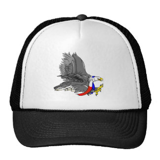 Patriotic Bald Eagle Red White and Blue Scarf Cap