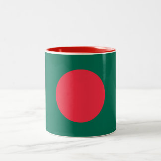 Patriotic Bangladeshi Flag Two-Tone Coffee Mug