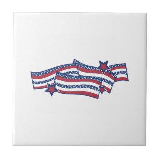 Patriotic Banner Ceramic Tiles