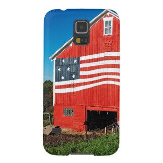 Patriotic Barn Galaxy S5 Covers