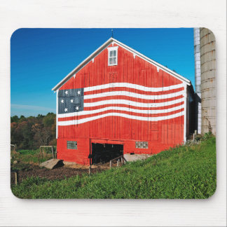 Patriotic Barn Mouse Pad