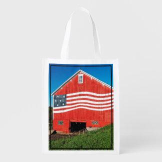 Patriotic Barn Reusable Grocery Bag