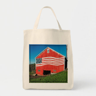 Patriotic Barn Tote Bag