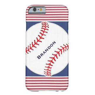 Patriotic Baseball Design iPhone 6 Case