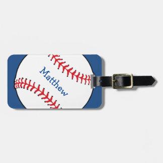 Patriotic Baseball Luggage Tag