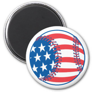 Patriotic Baseball Magnet