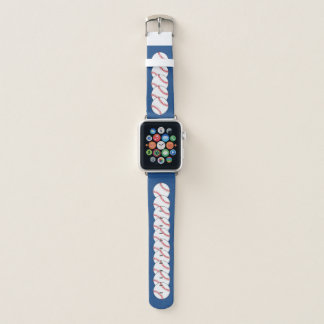 Patriotic Baseball Red White Blue Sports Apple Watch Band