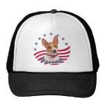 Patriotic Basenji Hats