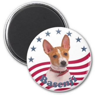 Patriotic Basenji Magnet