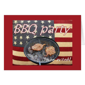 Patriotic BBQ Card